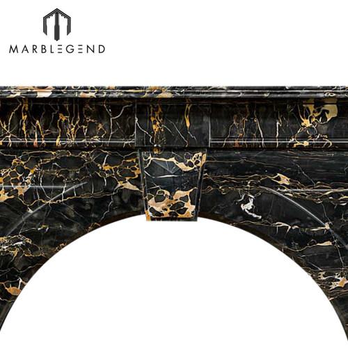 High quality wholesale price Victorian Portoro Marble fireplace mantel