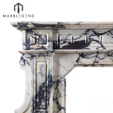 Magnificent Hand Carved Italian Marble Fireplace Mantle