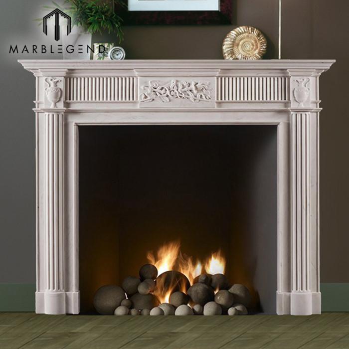 PFM China supplier handmade cheap price marble fireplace mantel