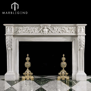 Latest best price indoor freestanding marble fireplace mantel