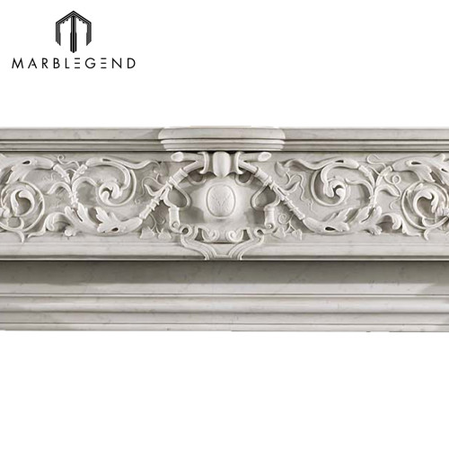 Latest best price indoor freestanding marble fireplace mantel