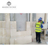 Doha Government project construction contractor natural marble wall tiles panel