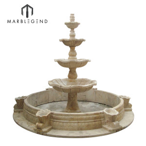 Outdoor Garden Decoration Four Tier Marble Water Fountain