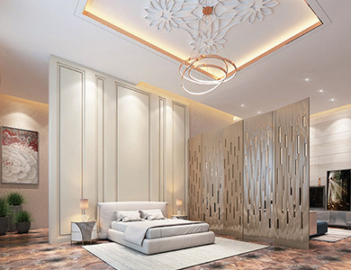 Doha Modern Palace bedroom design