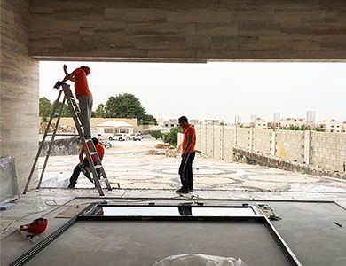 Doha Modern Palace external wall and window installation