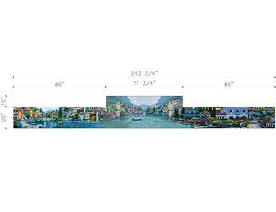 Beverly Hills Vol.1 Dibujo CAD para la cocina Arte Mosaico de vidrio