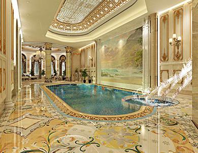 تصميم حمامات السباحة والشلالات في نافورة الشيشان