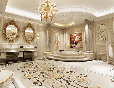 Chechnya Fountain & Decoration master bathroom  design