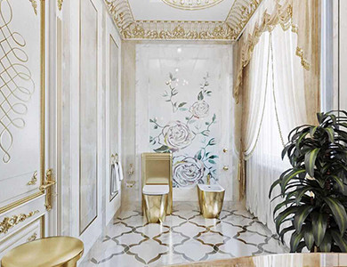 Chechnya Fountain & Decoration guest bathroom design