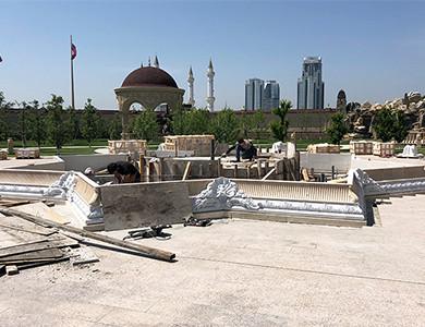 الشيشان نافورة والديكور نافورة رخامية بناء إطار قاعدة