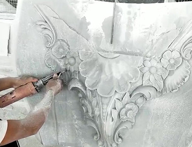 Chechnya Fountain & Decoration marble fountain hand carving