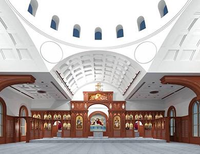 Diseño 3D de la Iglesia Ortodoxa Copta