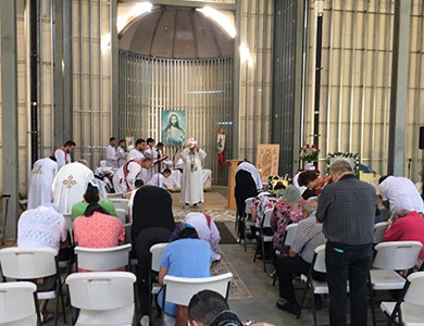 Зал коптской православной церкви