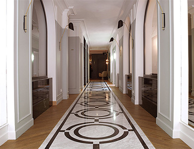 Hotel Bachaumont flooring after installation