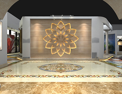 Riyadh Showroom lobby design