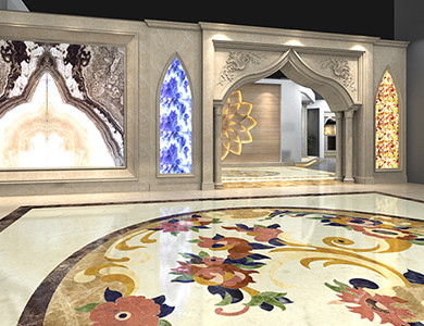 Riyadh Showroom entry foyer design
