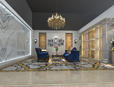 Riyadh Showroom reception room design