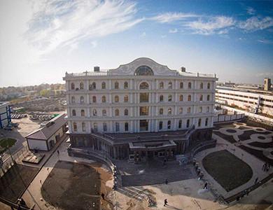 -Tajikistan SPA HAYOT granite exterior wall cladding