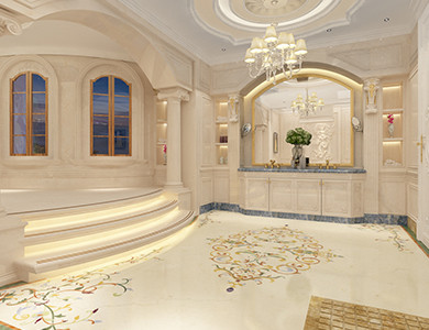 Роскошный 3D дизайн ванной комнаты