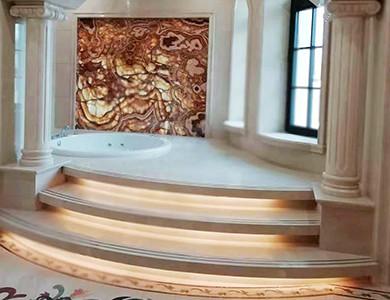 Diseño de baño 3D de lujo
