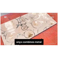 PFM is producing metal inlay in natural marble onyx