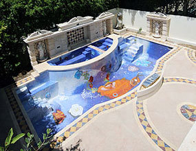 Mosaic Tile Crystal Glass For Swimming Pool