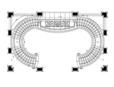 Curved Staircase grand staircase cad desgin