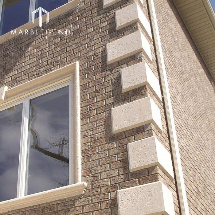 Bespoke Sizes Exterior Wall Cladding Building Facade Limestone Stone Corner Quoins
