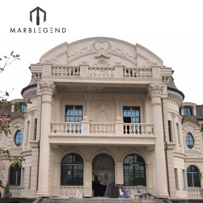One-stop Exterior Wall Cladding Solutions Provider Portuguese Limestone Stone Curtain Wall for Villa