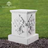 Neoclassical marble column pedestal classical carving stone plinth
