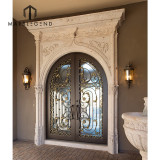 Hand Carved Stone Entrance Door Frame Natural Stone Front Door Surround