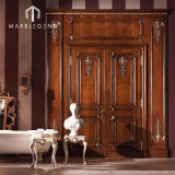 China Factory Interior Room Carving Wooden Door Natural Solid Wood Door