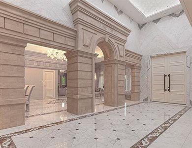 marble waterjet medallion flooring