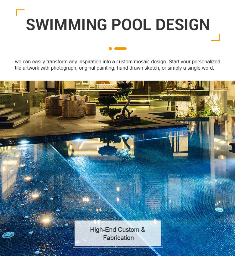 Luminescent iridescent clear glass swimming pool mosaic tiles for private villa-1