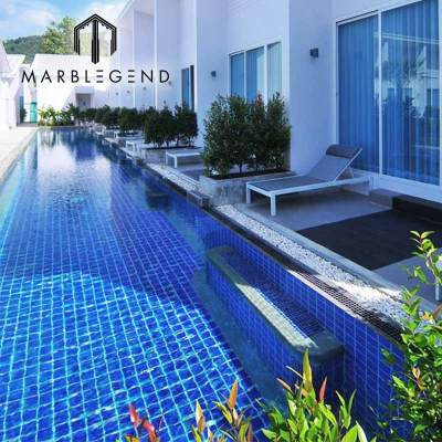 wholesale blue ceramic mosaic tile manufacturer for apartment outdoor swimming pool