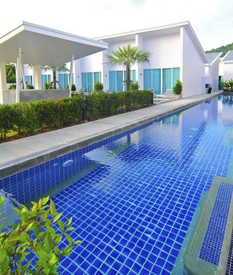 Customized cheap blue square porcelain Mosaic tile for swimming pool-2