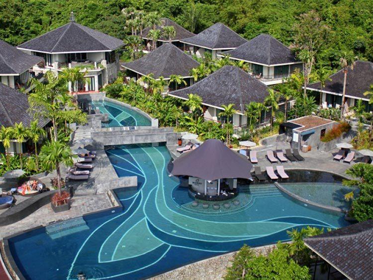 Customized design big swimming pool blue glass polished mosaics outdoor resort pool tiles-1