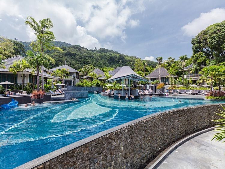 Customized design big swimming pool blue glass polished mosaics outdoor resort pool tiles-2