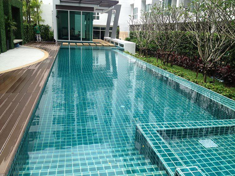 crackle glazed ceramic Mosaic tile upscale green swimming pool mosaics villa outdoor pool mosaic-2