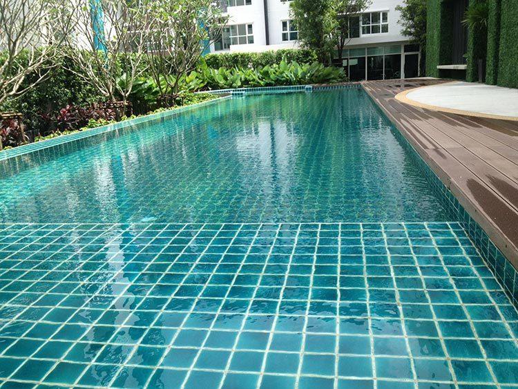 crackle glazed ceramic Mosaic tile upscale green swimming pool mosaics villa outdoor pool mosaic-3