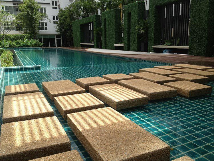 crackle glazed ceramic Mosaic tile upscale green swimming pool mosaics villa outdoor pool mosaic-4