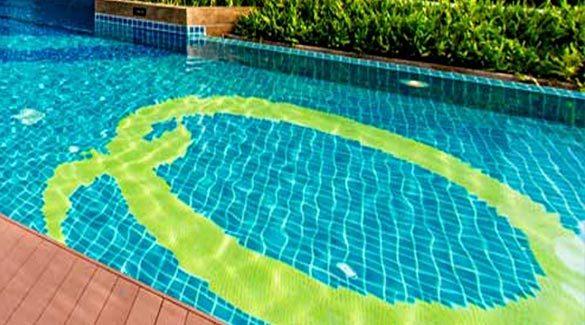 PFM swimming pool glass mosaic