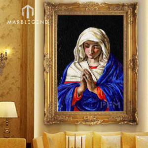 Virgin Mary Prayer pattern mural religion art mosaic tile wall floor decorative