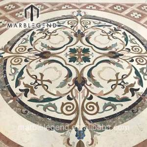 Factory price natural marble waterjet floor medallion hand made polished for interior