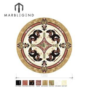 Custom design retro style pattern marble tile waterjet medallion for luxury interior decoration