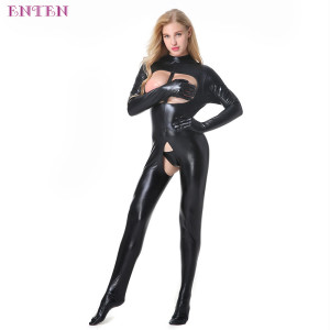 Hot Sale Women Bodystocking Sexy Lingerie Showing Nipples
