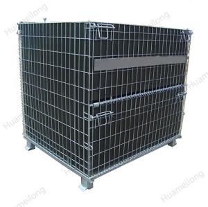 Contenedores de malla de alambre plegables plegables de acero plegables rígidos utilizados para el almacenamiento