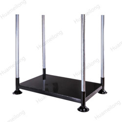 HML OEM iso outdoor portable movable metal tube stacking steel pallet rack for storage