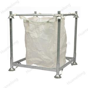Armazém galvanizado de armazenamento de aço metálico empilhamento de sacos grandes
