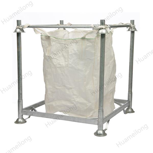 HML heavy duty hot dip zinc warehouse detachable stacking metal steel post manurack with big bag